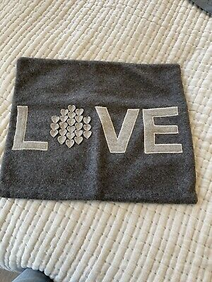 Grey Love Cushion Cover • 6.50£