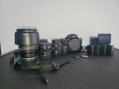 AU2583.31 • Buy Sony Alpha A7S II 12.2MP KIT 2-64gb SDs, 85mm, 24mm Rokinon, 35mm Zeiss, Filters