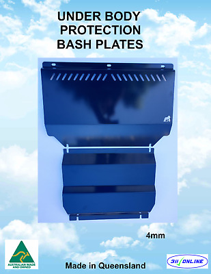 AU158 • Buy BASH PLATE SET 4mm H/D (slots) Compatible With Mitsubishi Triton ML/MN 2006-2015