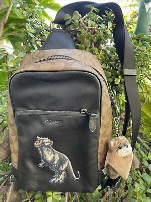 $399.99 • Buy Star Wars X Coach LE Sling Pack Signature Leather Tauntaun Backpack Bag Purse