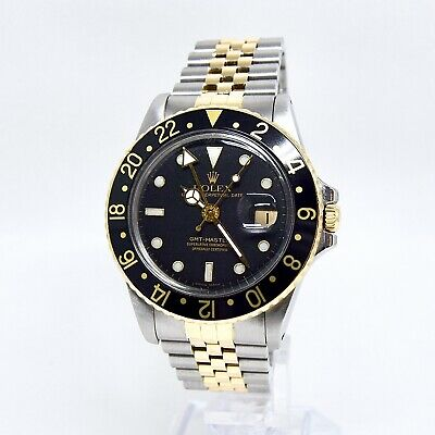 $ CDN18304.45 • Buy Rolex GMT Master 16753 Box And Papers 1988 18K Gold And Steel