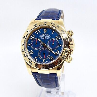 $ CDN42251.47 • Buy Rolex Daytona 116518 Box And Papers 2015 Racing Blue Dial Full Set