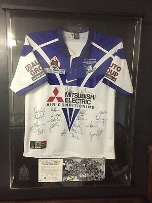 AU3500 • Buy Canterbury Bulldogs 2004 NRL Premiers Top Dogs Signed Framed Jersey 191 Of 200