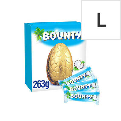 Bounty Milk Chocolate Egg With 3 Fun Size Bars 263G | Coconut Covered Milk Choco • 16.35£
