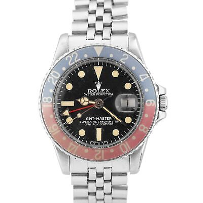 $ CDN20291.51 • Buy Vintage 1978 Rolex Patina GMT-Master FADED PEPSI Stainless MATTE DIAL Watch 1675
