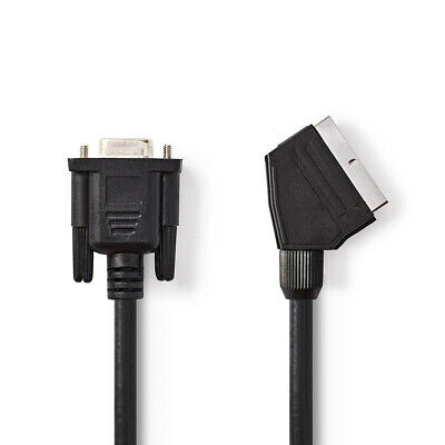 SCART - VGA Cable 2m Scart To VGA Cable/lead (Scart Male To VGA Female) Black • 3.90£