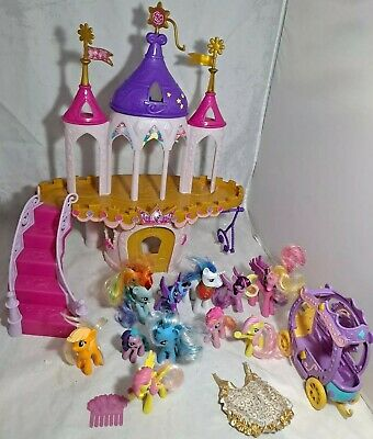 My Little Pony Princess Wedding Castle Lot With Carriage 11 Ponies! Rare! • 57.21£