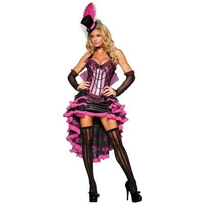 Can Can Costume Adult Saloon Girl French Cabaret Dancer Halloween Fancy Dress • 69.67£