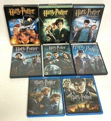 $ CDN43.11 • Buy Harry Potter 1-8 (6 DVD & 2 Blu-Ray) Complete Movie Set