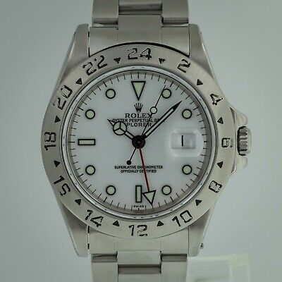 $ CDN9463.19 • Buy Rolex Explorer II Ref No 16570 Men's Stainless Steel GMT White Dial 1999