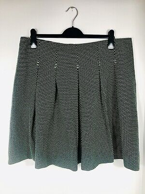 Dickens & Jones SKIRT Size 18 PLEATED COTTON MINT COND WOMEN'S Polka Dot • 8.99£