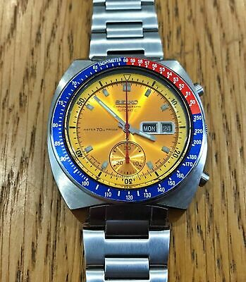 $ CDN1197.90 • Buy  Rare Vintage Seiko 6139-6002 Pogue Day Date Chronograph Automatic Steel Watch