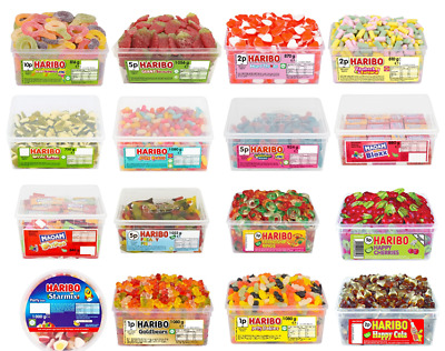 £8.99 • Buy Haribo Sweets Selection Treats Full Tubs Pick N Mix Maoam Candy Kids Party