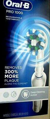 AU52.13 • Buy Oral-B PRO 1000 Electric Toothbrush Deep Cleaning Action White    SB17
