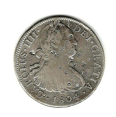 AU295 • Buy 1804    MEXICO   Mo TH 8 REALES - CHOPMARKED - PROCLAMATION COIN