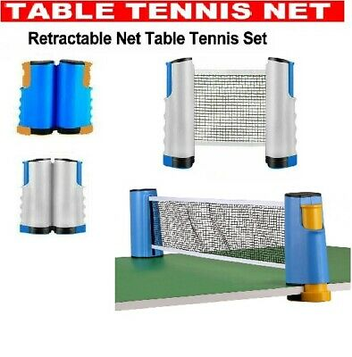 AU20.99 • Buy Portable Table Tennis Kit Ping Pong Set Retractable Net Rack Indoor Games Sports