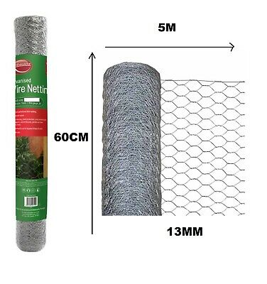 £13.79 • Buy Chicken Wire Mesh Netting Rabbit Cage Aviary Fence Plant Net 5M X 600mm X 13mm