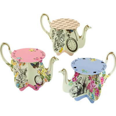 £8.50 • Buy 6 X Alice In Wonderland Teapot Cake Stands For Cupcakes