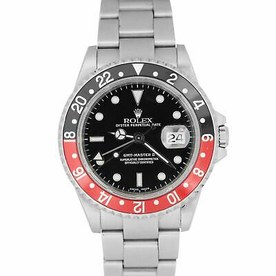 $ CDN13248.48 • Buy 2000 Rolex GMT-Master II P-SERIAL 40mm Stainless Steel Coke Red Watch 16710
