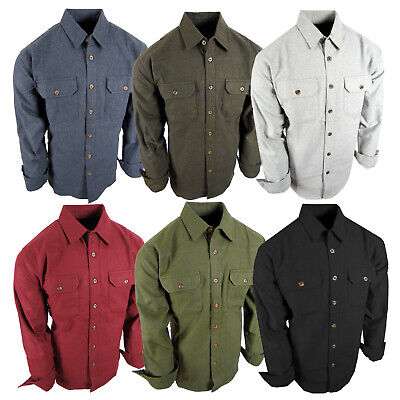 $26.95 • Buy Chamois Shirt Mens Flannel Thick Rugged Work Stretch Button Pocket True Fit