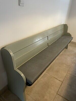 £390 • Buy Stunning Antique Victorian Vintage Old Pine Church Pew Settle Bench Painted