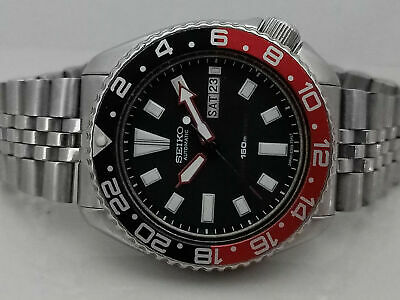 $ CDN105.83 • Buy Stunning Vintage Seiko Diver 6309-729a Black Face Mod Automatic Men Watch 261668