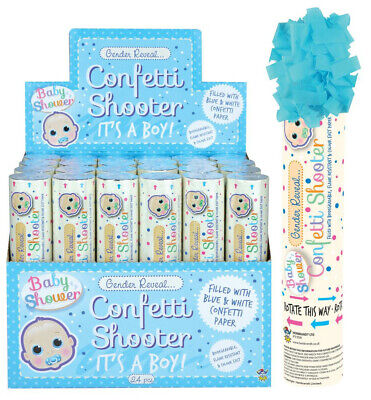 £4.50 • Buy Boy Girl Gender Reveal Confetti Shooter Baby Shower Pink Blue Cannon Poppers
