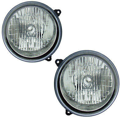 $63 • Buy Headlights Front Lamps Pair Set For 03-04 Jeep  Liberty Left & Right