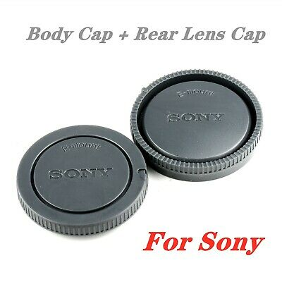 AU7.85 • Buy Sony Body Cap + Rear Lens Cap For Sony E-Mount NEX Camera And Rear Lens