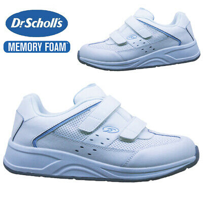 £11.95 • Buy Ladies Dr Scholls Leather Memory Foam Wide Fit Walking Gym Trainers Shoes Size