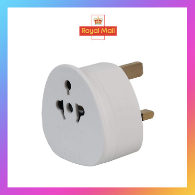 AU4.89 • Buy UK Visitor's Travel Adaptor, USA Europe Australia Plugs To 3 Pin UK Mains Socket