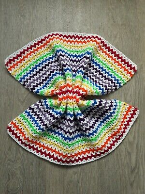 Beautiful Handmade Rainbow Baby Blanket • 10£