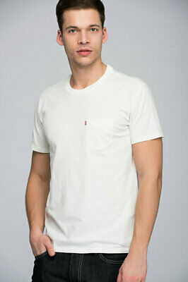 £9.99 • Buy Levi's Men Classic Pocket T-Shirt Cream 100% Authentic, Brand New, Tagged.