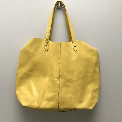 AU59.51 • Buy John Lewis - Yellow Leather Shopper