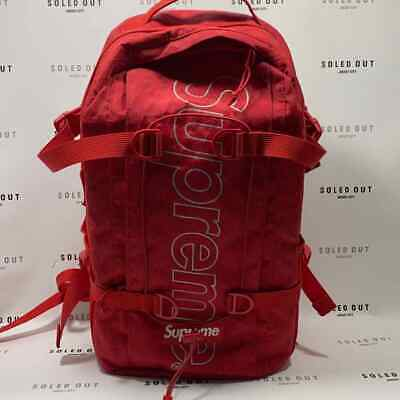 $ CDN275.70 • Buy Supreme Backpack  Fw18  Red Used – (9911-23)