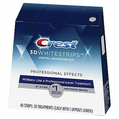 AU19.95 • Buy Crest 3D Professional Effect White Strips Advanced Teeth Whitening Treatment Kit