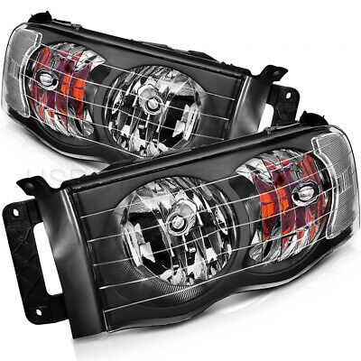 $87.50 • Buy Fits 02-05 Dodge Ram 1500 2500 3500 Headlights Assembly Driver + Passenger Set