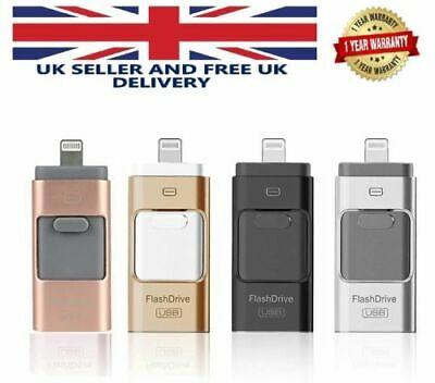 £6.99 • Buy 3 IN 1 USB 32 64 GB Memory Stick I-Flash Drive OTG Disk For IPhone IPad IOS PC