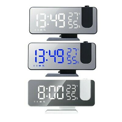 AU28.89 • Buy Projection Alarm Clock LED Display Mirror Clock Thermometer Hygrometer FM Radio