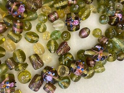 500g Green Lampwork Glass Beads, Jewellery Making/ Crafting - Fantastic Value!  • 7£
