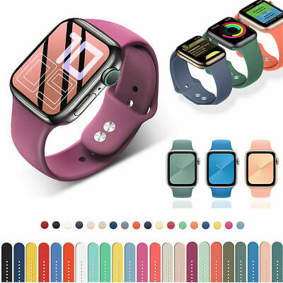$ CDN4.99 • Buy For Apple Watch Series 6 5 4 3 SE Sport IWatch Silicone Band Strap 38/40/42/44mm