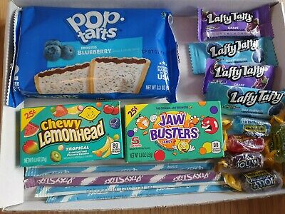 £4.99 • Buy Kellogs Pop Tarts Frosted Blueberry American Sweets Gift Box-Retro Candy Hamper