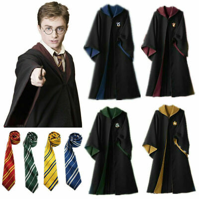 $ CDN26.37 • Buy Harry Potter Hufflepuff Cape Cloak Tie Cosplay Party Costume COS Xmas Halloween