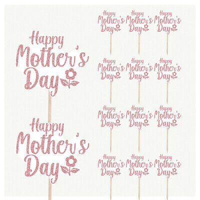 £4.99 • Buy Happy Mothers Day Cupcake Cake Party Food Decorations Picks Toppers - Pack Of 14