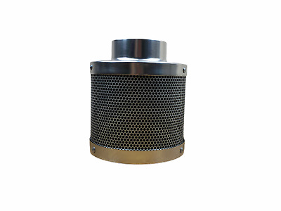 CARBON FILTER 4  INCH  HYDROPONIC EXTRACTION GROW TENT ROOM ODOUR 100mm X 350mm • 24.95£