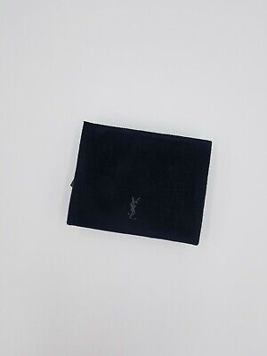 £42.58 • Buy YVES SAINT LAURENT NWOT YSL Parfum Suede Black Zip Clutch Makeup Bag W/ Mirror