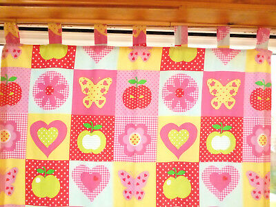 Colourful 'NEXT' PATCHWORK CURTAINS : Tab-Top, Lined : Light Use : 72  Drop : A1 • 15£