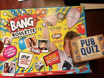 Bang Roulette Russian Roulette Game & Pub Quiz Cards Party/night In Games • 1.99£