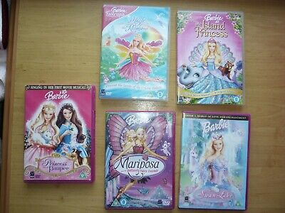 Limited Edition Barbie Movie Collection 5  Barbie Dvds Swan Lake,Mariposa  • 8.95£