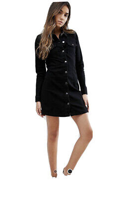 AU15 • Buy Denim Shirt Dress Size Small ASOS